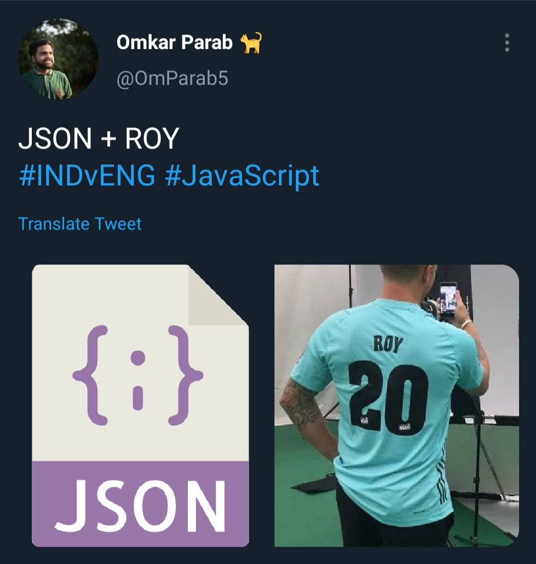 JSON + ROY = Jason Roy
